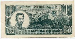 VIET NAM BILLET DE 5 DONG DE 1948 (Pick 17a) - Vietnam