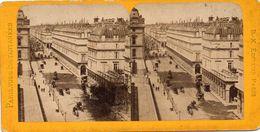 PHOTO STEREOSCOPIQUE - PARIS -  RUE De RIVOLI  -  19 Mars 1904 - Fotos Estereoscópicas