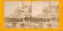 PHOTO STEREOSCOPIQUE - PARIS -   Abside De Notre - Dame De Paris - Photos Stéréoscopiques