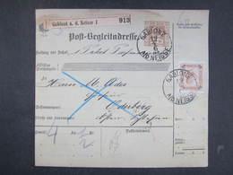 PAKETSCHEIN Gablonz - Oderberg 1902 /// D*30921 - 1850-1918 Imperium