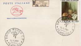 ITALY - 1981 MASSA PHILATELY    FDC4223 - 6. 1946-.. República