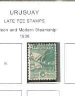 Uruguay Late Fee 1936 Galeon Scott.I3+Used See Scans On Scott.Page - Uruguay
