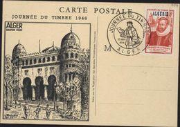 Carte Locale De La Grande Poste D'Alger YT 248 Algérie CAD Illustré Facteur Journée Du Timbre 29 Juin 1946 Alger - Algeria (1924-1962)