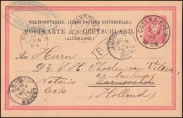 Postkarte P 8I Adler 10 PFENNIG Von COELN A. RHEIN 9.6.84 Nach WARNSVELD 10.6. - Postwaardestukken