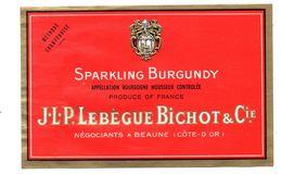 Etiquette Bourgogne Mousseux Lebègue Beaune - Champagne & Mousseux