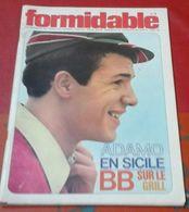 Formidable N° 3 Décembre 1965 Adamo En Sicile, Brigitte Bardot, Christian Brincourt, Les Beatniks - Musique