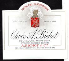 Etiquette Bourgogne Mousseux Bichot Cuvée - Champagne & Schuimwijn