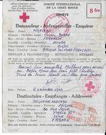 1943 - RED CROSS - CROIX-ROUGE - LETTRE CORRESPONDANCE De KOUBA (ALGERIE) => PARIS - Marcophilie (Lettres)