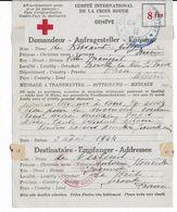 1944 - RED CROSS - CROIX-ROUGE - LETTRE CORRESPONDANCE De ORAN (ALGERIE) => LA BREDE (GIRONDE) - Marcophilie (Lettres)