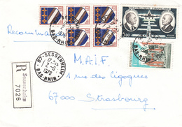 Env Reco Affr Y&T 1353 X 5 + 1759 + PA 46 Obl SESSENHEIM Du 2.8.1976 Adressée à Strasbourg - Marcofilia (sobres)