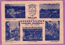 71 ENVELOPPE PUBLICITE DE BOURBON LANCY AU DOS  Avec Flamme Au Recto - Advertising
