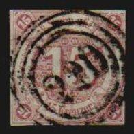 Altdeutschland Thurn Und Taxis 1859 Michel Nr. 24 Gestempelt, Signiert (M€ 120,-) 15 Kr. Braunpurpur, 2 Scans - Thurn Und Taxis