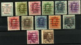 2261- España Nº 455/67 - 1889-1931 Royaume: Alphonse XIII