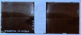PHOTO STEREO SUR PLAQUE DE VERRE - STROUMITZA - STRUMITZA - LE VARDAR - MACEDOINE - 10,6 X 4,4 Cm - Photos Stéréoscopiques