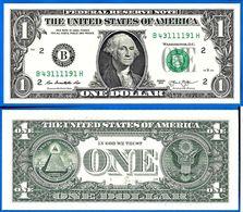 USA 1 Dollar 2013 NEUF UNC Mint New York B2 Suffixe H United States America Etats Unis Dollars Skrill Paypal OK - Federal Reserve Notes (1928-...)