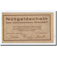 Billet, Allemagne, Niendorf, 50 Pfennig, Bateau, 1921, 1921-03-01, SPL - Germany