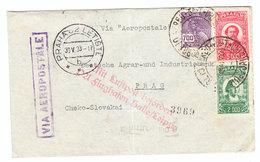 Brazil/Czechoslovakia VIA AEROPOSTALE AIRMAIL COVER GERMAN LUFTPOST 1933 - Luftpost (private Gesellschaften)