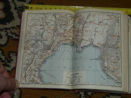 Lago Ceresio Lugano Suisse Map Karte Mappa 1930 - Cartes Géographiques