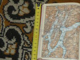 Lago Di Lugano Bioggio Ardenna Sonvico Suisse Map Karte Mappa 1930 - Landkarten