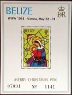 Belize 1981 WIPA Overprint Minisheet MNH - Belize (1973-...)