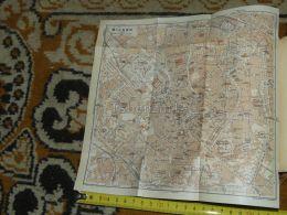 Milano Italy Map Karte Mappa 1930 - Carte Geographique