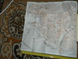 Genova Italy Map Karte Mappa 1930 - Geographical Maps
