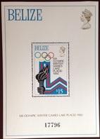 Belize 1979 Winter Olympics Minisheet MNH - Belize (1973-...)
