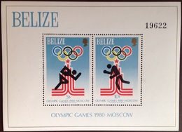 Belize 1979 Moscow Olympics Minisheet MNH - Belize (1973-...)