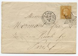 France - Lettre N°28B - Etoile 39 - (F220) - 1863-1870 Napoleon III With Laurels