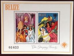 Belize 1980 Year Of The Child Sleeping Beauty Minisheet MNH - Belize (1973-...)