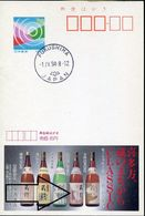 31610 Japan,stationery Card,advertising Card 1994, Mozart Wine,  Vin Mozart !! - Music
