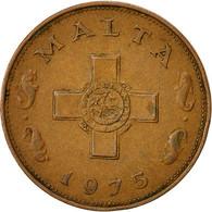 Malte, Cent, 1975, British Royal Mint, TB+, Bronze, KM:8 - Malta