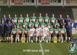 ÖSTERREICH - SV Ried Teamkader, Meisterschaft 2011/2012 - Fussball Nicht Gelaufen - Fussball