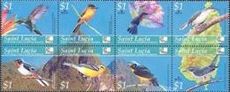 SAINT LUCIA 2004 - Oiseaux Rares - 8 V. - Hummingbirds