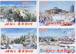North Korea 2017 Happy New Year Postal Cards  5 Pcs - Corea Del Nord