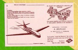 BUVARD : Cahiers RONSARD Aviation  Histoire De L'Aviation  Française :La Caravelle N°8 ROUBAIX - Stationeries (flat Articles)