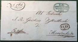 1839 CLES (Trentino Trento SÜDTIROL Italia  Österreich) Brief > Mezzolombardo  (prephilately Vorphilatelie Cover Lettre - Österreich