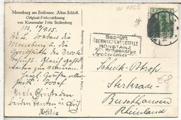 ALEMANIA 1915 TP CON MARCA CENSURA KOSTANZ GEPRUFT - Cartas