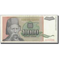 Billet, Yougoslavie, 10,000 Dinara, 1993, KM:129, TTB - Yugoslavia