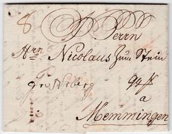 1775, Hamburg, Kleiner Kabinettbrief Nach Memmingen 1775, Hamburg, Kleiner Kabinettbrief Nach Memmingen - Hamburg