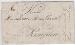 1790, Hamburg, Kleiner Luxusbrief Nach Kempten, Rs. Forwarded-Vermerk Vom Spediteur Heinlein In Nuernberg 1790, Hamburg, - Hamburg