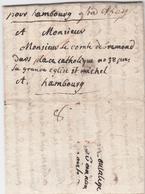 1796, Muenchen, Seltener Kleiner Kabinettbrief (interess. Inhalt) ''pour Hambourg`` Und ''frca. N.berg`` Nach Hamburg, R - Hamburg