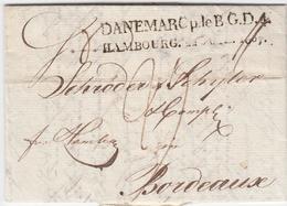 1807, Copenhagen, Kleiner Kabinettbrief Mit L2 DANEMARC P. LE. B. G. D. 4 HAMBOURG, Hb. 254, 300,- 1807, Copenhagen, Kle - Hamburg