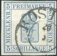 5 S Blau Gest., Farbfrisch Und Allseits Gut Gerandet, U.a.signiert Brettl Und Aktueller Befund J.-Lantelme, Pracht. M? 4 - Mecklenburg-Schwerin