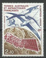TERRES AUSTRALES & ANTARTIQUES , TAAF , 2.10 Frs , Albatros Argos , 1991  , N° YT PA 115 , NEUF ** - Poste Aérienne