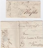1795-1822, Hohenstein, Zwei Kabinettbriefe Nach Kempten, Rs. Forwarded-Vermerke Von Nuernberg 1795-1822, Hohenstein, Zwe - Sachsen