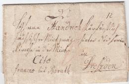 1797, Heiligenbeil (Ostpreussen), Interess. Brief ''franco Bis Baruth, Cito`` An Einen Koenigl. Kurfuerstlichen Muenzpra - Sachsen