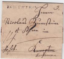 1819, LCHTSTEIN, Ehem. Chursaechs. L1 Auf Interess. Nachsendebrief ''Fr. Hof`` Nach Kempten Und Kaufbeuren 1819, LCHTSTE - Sachsen