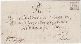 1830, Dresden, Dek. Ortsbrief Mit Vs. Briefsammlungs-R3 NO. 1 N. 4 U. 1830, Dresden, Dek. Ortsbrief Mit Vs. Briefsammlun - Sachsen
