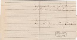 1864, HUNDSHUeBEL, R2 Der Briefsammlung Klar Auf Schriftstueck 1864, HUNDSHUeBEL, R2 Der Briefsammlung Klar Auf Schrifts - Sachsen